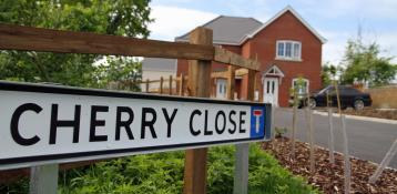 Cherry Close sign