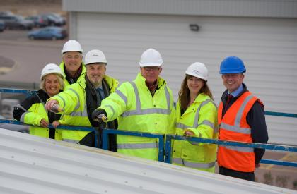 Blackfriars Court topping out 2