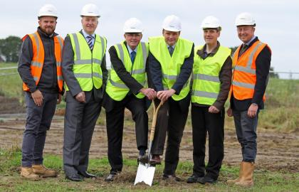 Cutting the first sod at Wolseley Business Park