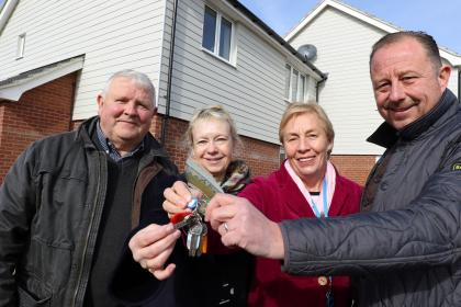 Laxfield council homes key handover March 2018 1 sm